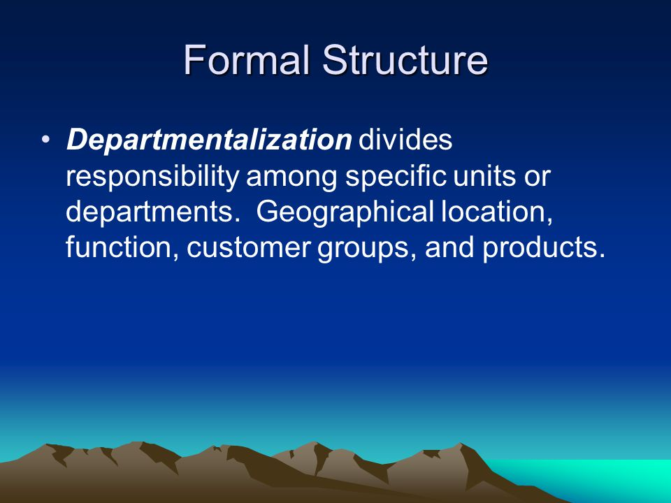 Formal Structure