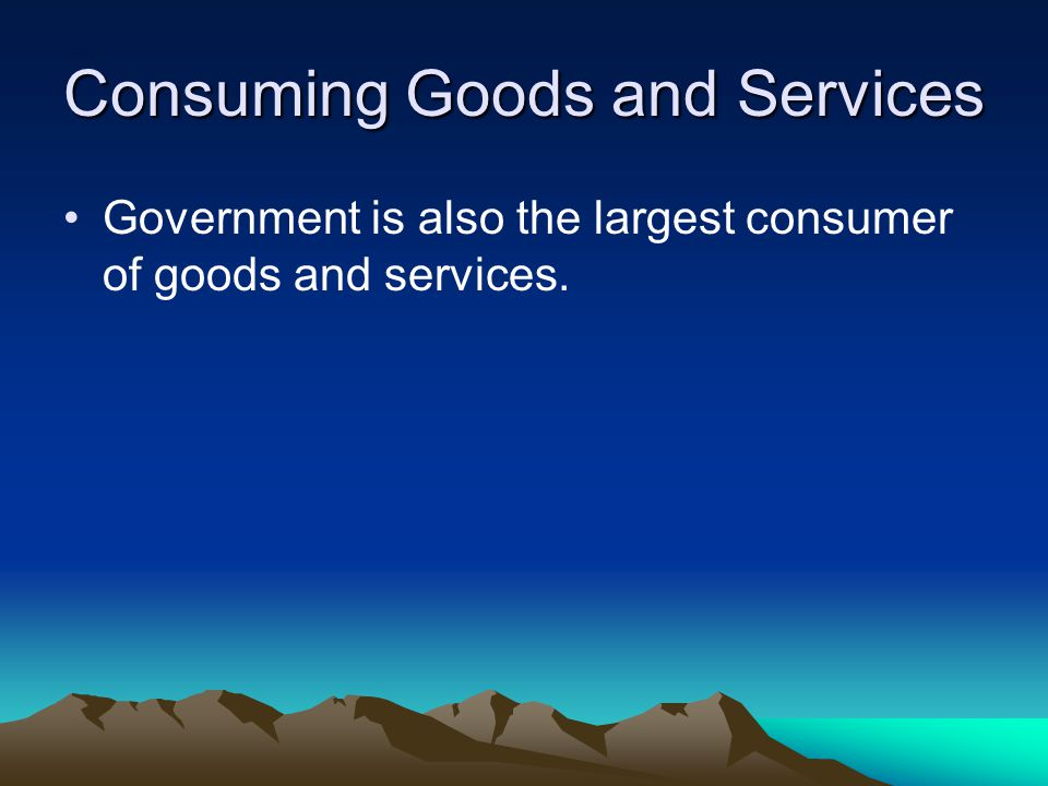 Consuming Goods and Services