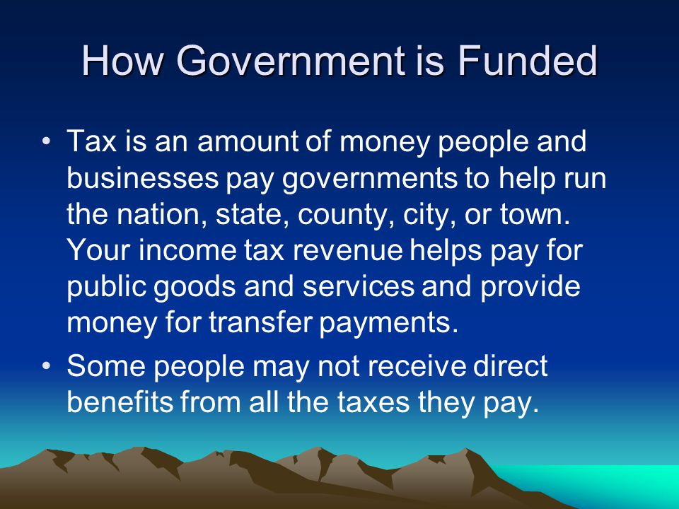 How Government is Funded