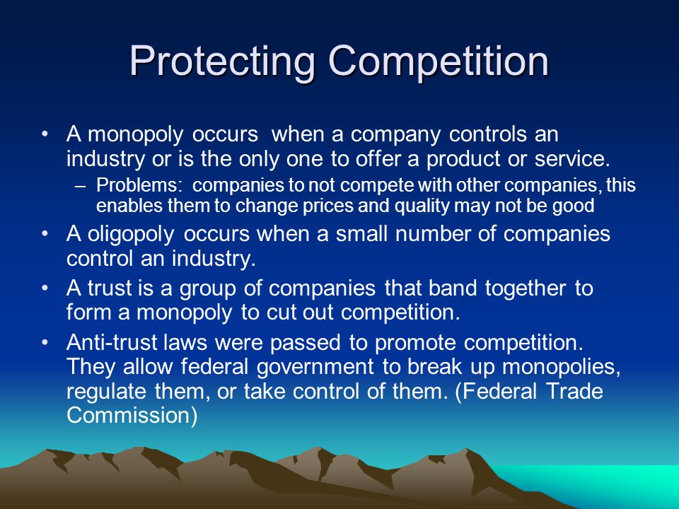 Protecting Competition