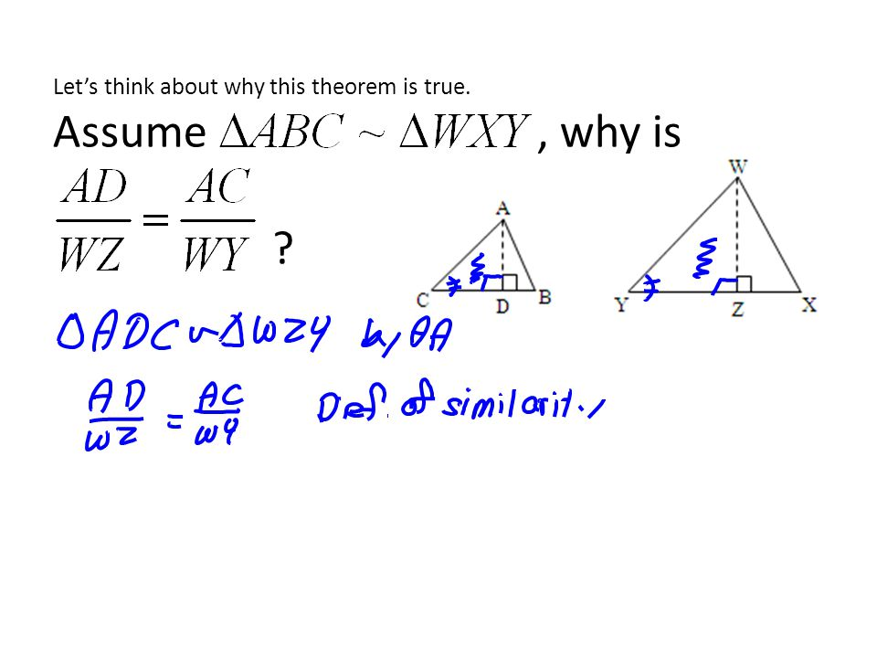 Let's think about why this theorem is true. Assume , why is