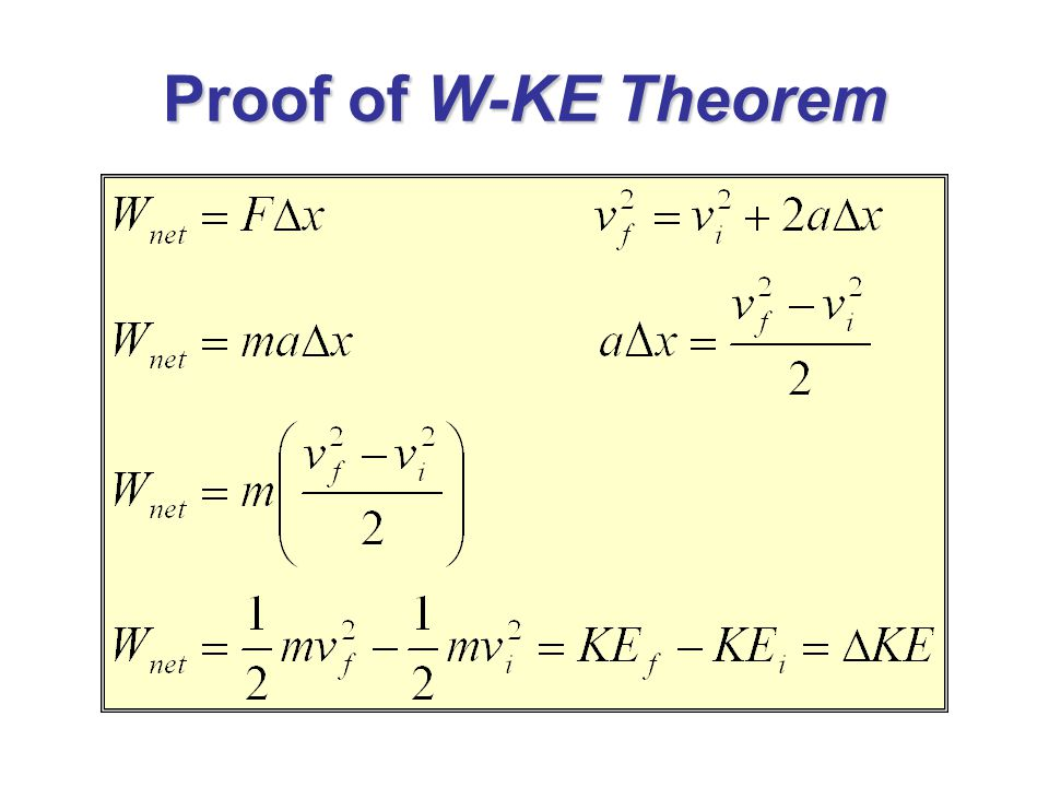 Proof of W-KE Theorem