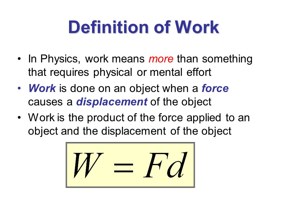 Work & Energy Physics, Chapter ppt download