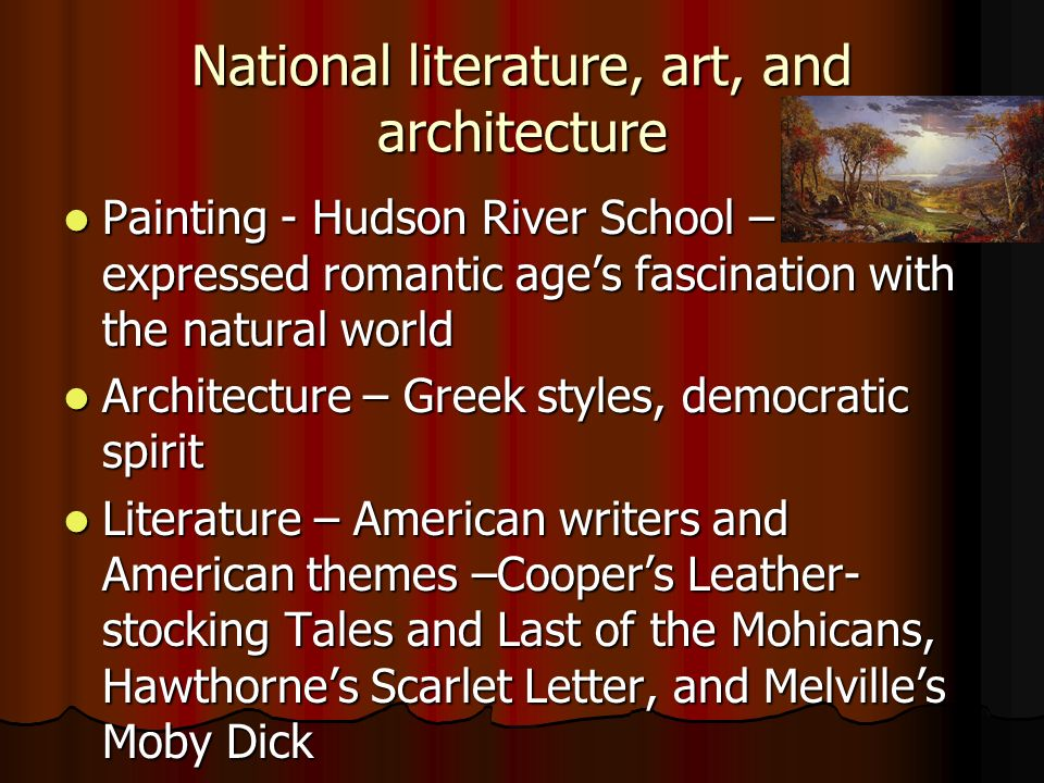 National literature, art, and architecture