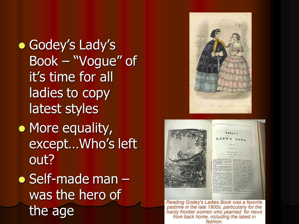 Godey's Lady's Book – Vogue of it's time for all ladies to copy latest styles