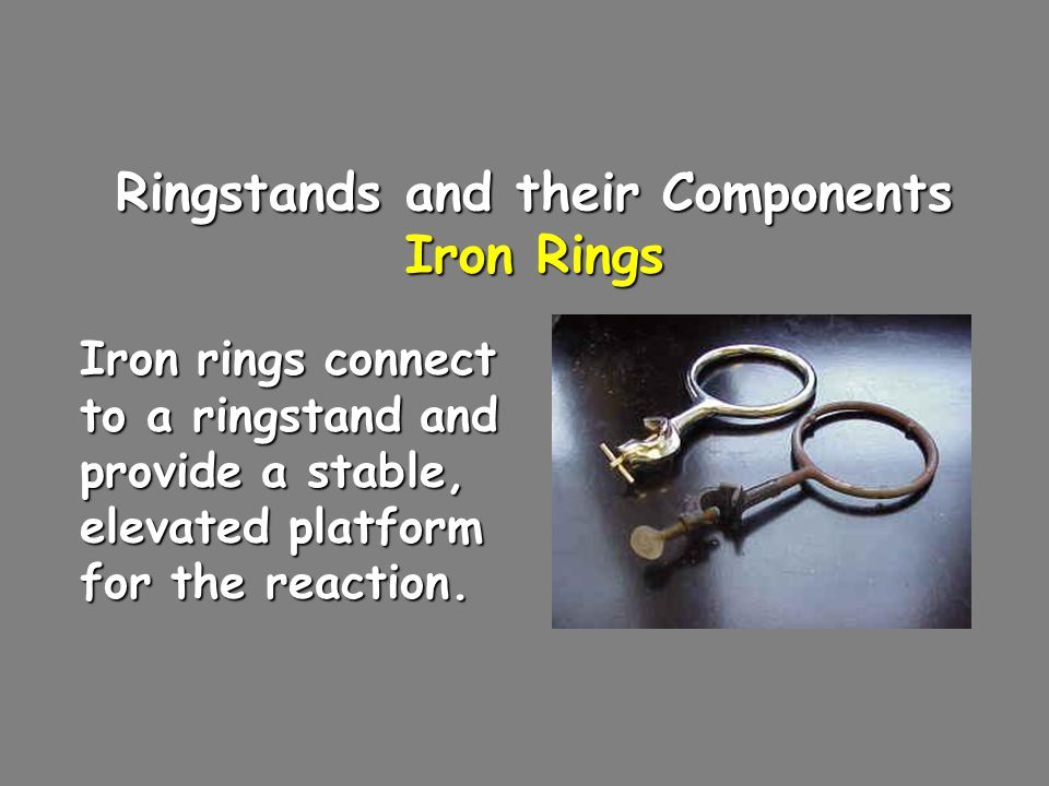 Ringstands and their Components Iron Rings