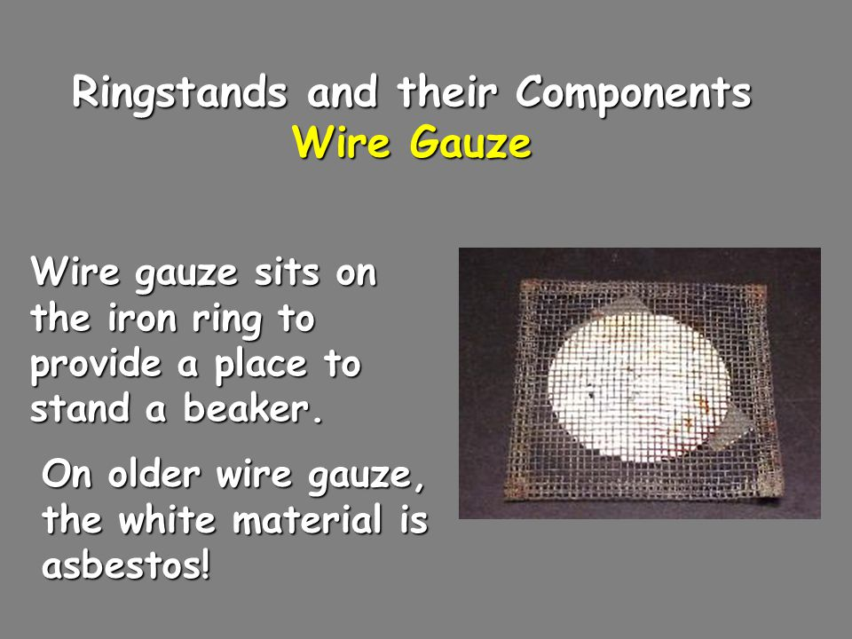 Ringstands and their Components Wire Gauze