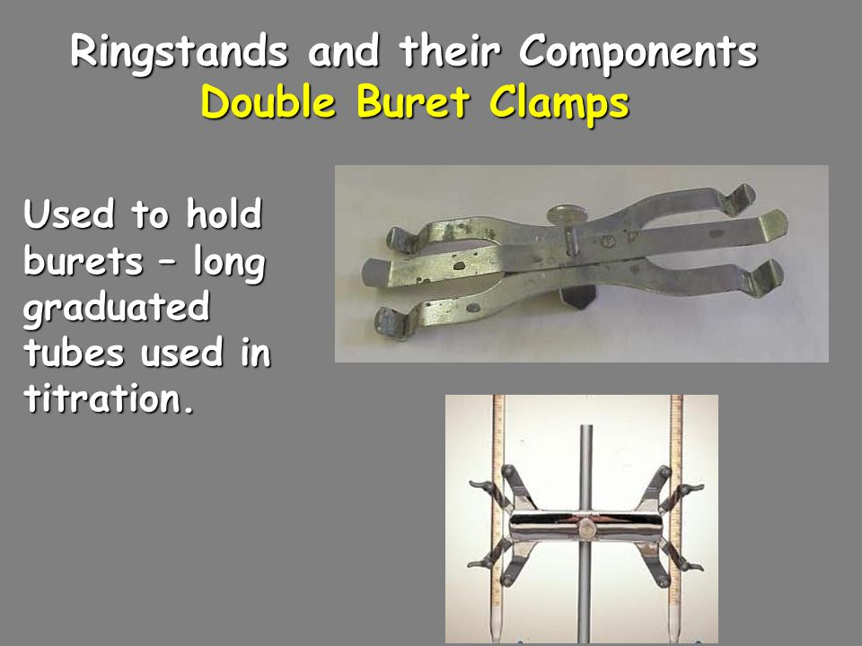 Ringstands and their Components Double Buret Clamps