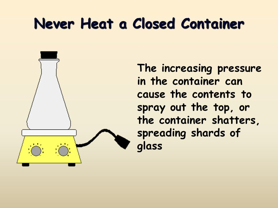 Never Heat a Closed Container