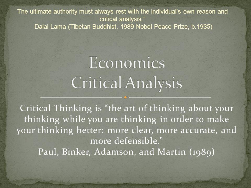 Economics Critical Analysis