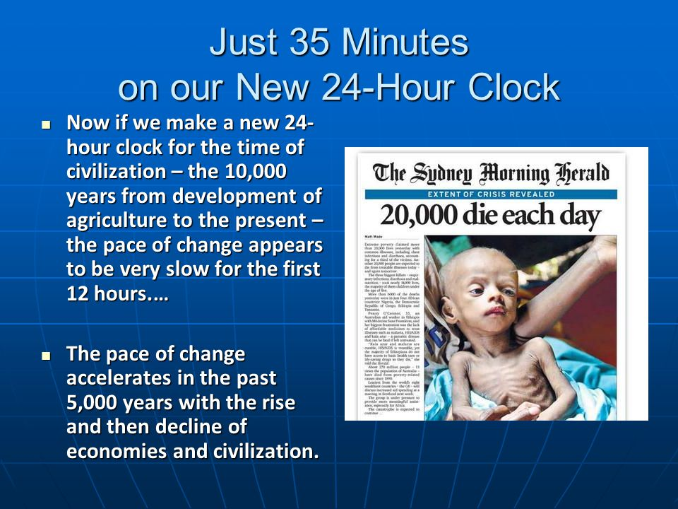 Just 35 Minutes on our New 24-Hour Clock