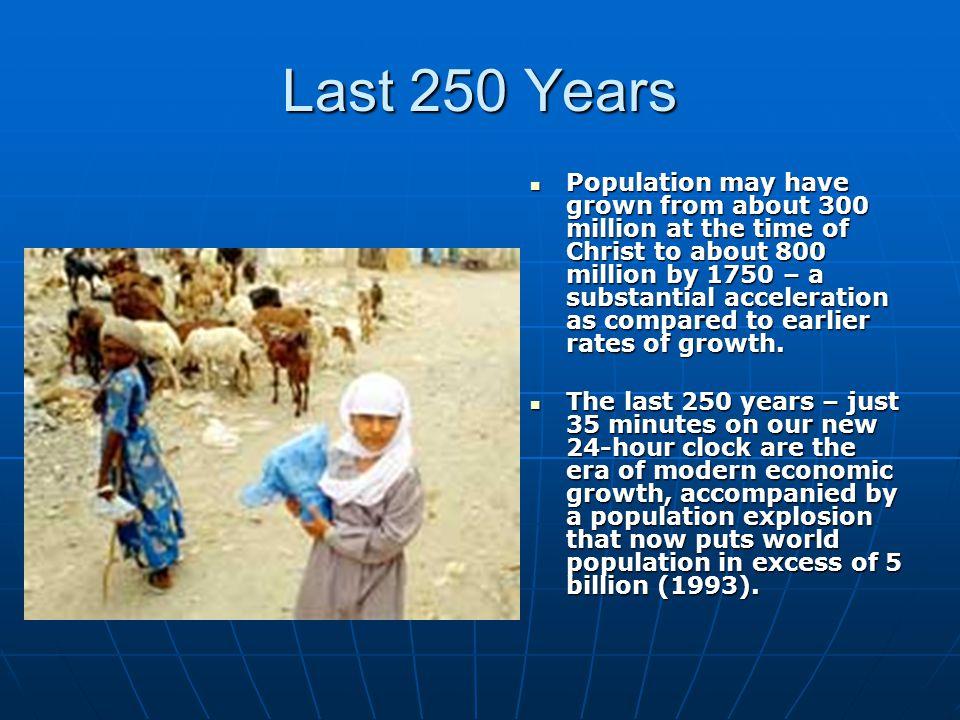 Last 250 Years