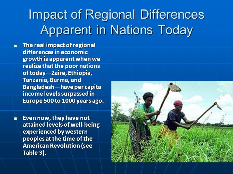 Impact of Regional Differences Apparent in Nations Today