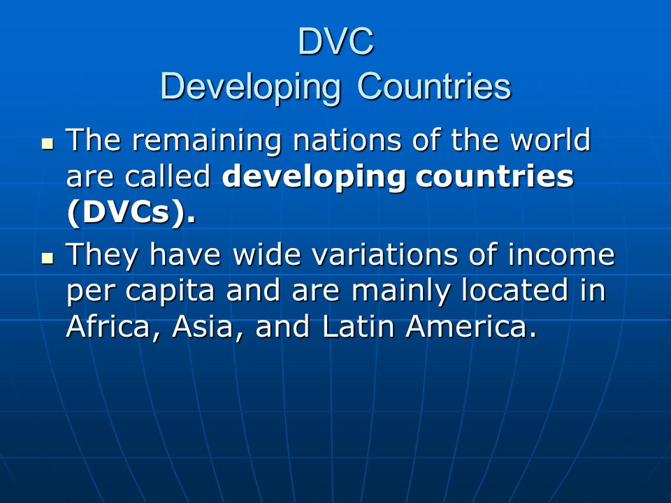 DVC Developing Countries