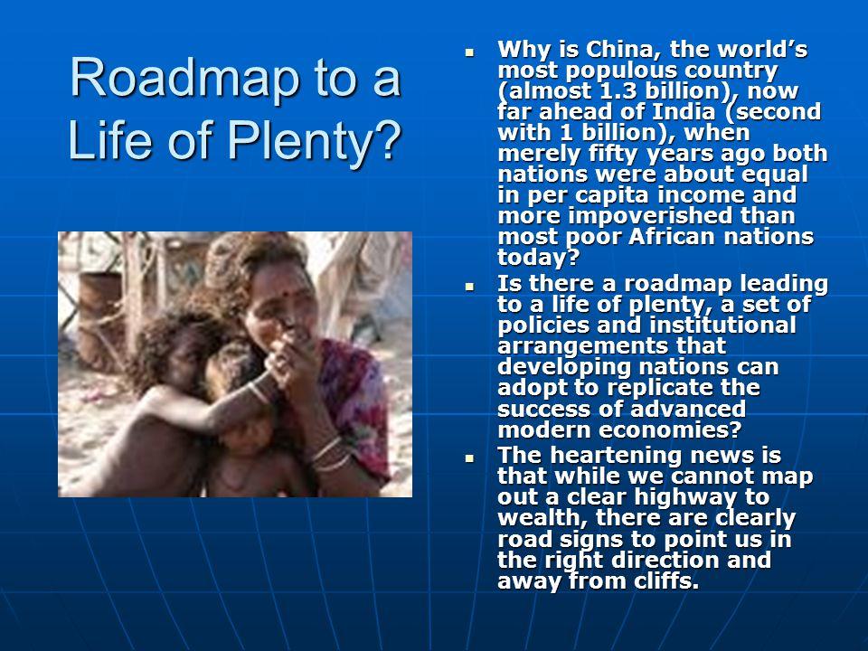 Roadmap to a Life of Plenty