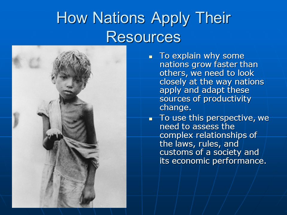How Nations Apply Their Resources