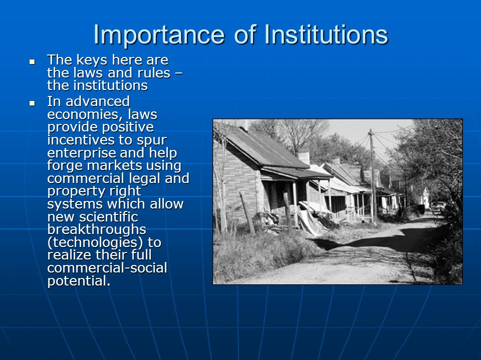 Importance of Institutions