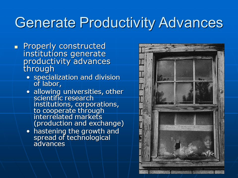 Generate Productivity Advances