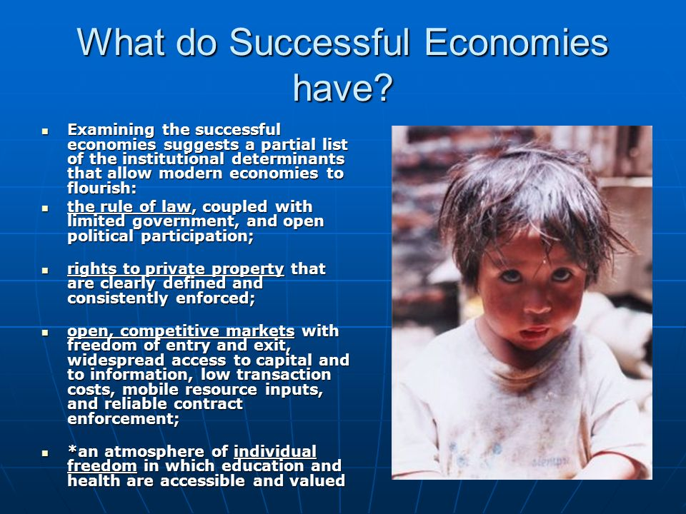 What do Successful Economies have