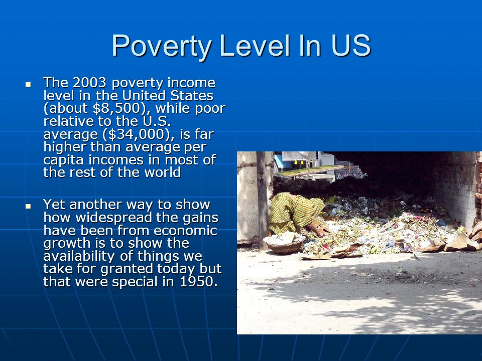 Poverty Level In US