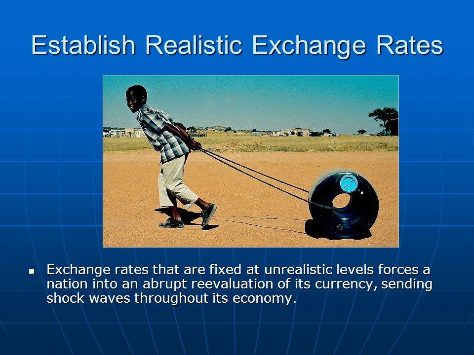 Establish Realistic Exchange Rates