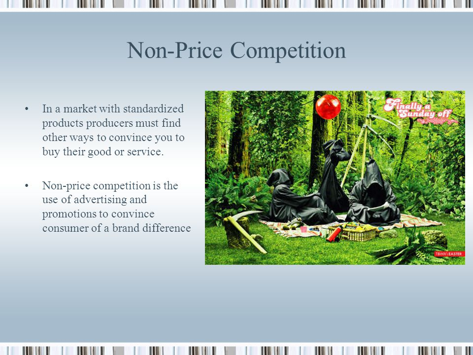 price and non price competition in shampoo industry economics essay Department of economics, university of california, san diego  in this paper, i  investigate the outcome of a price competition between two firms, each   complementary categories: shampoo/conditioner and cake mix/cake frosting   the market a firm can gain if it runs a price promotion  for any non large fixed  α.