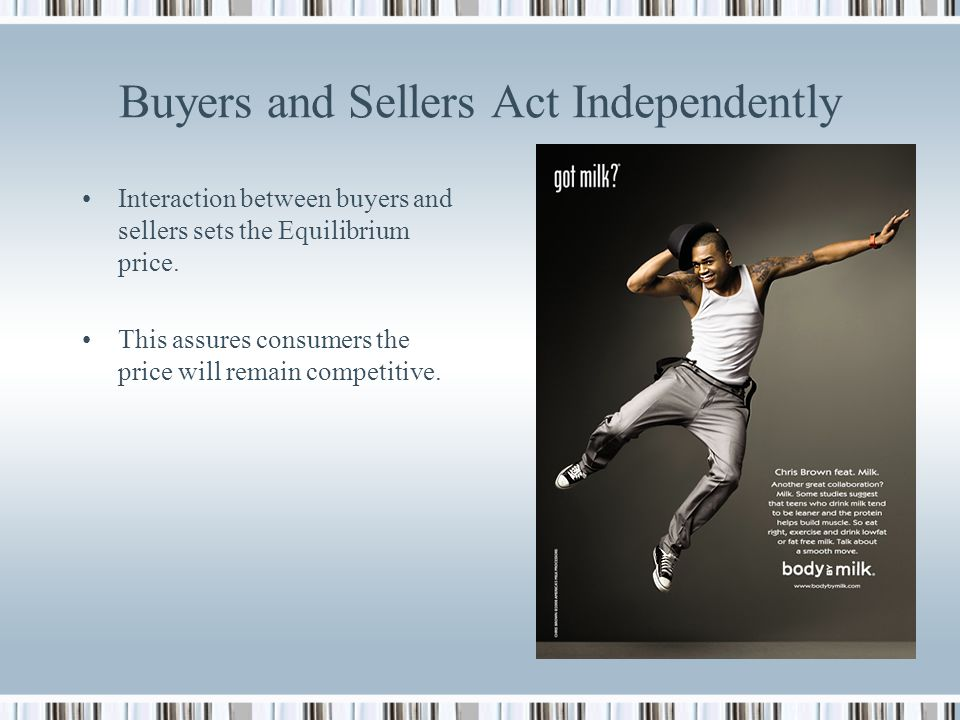 Buyers and Sellers Act Independently