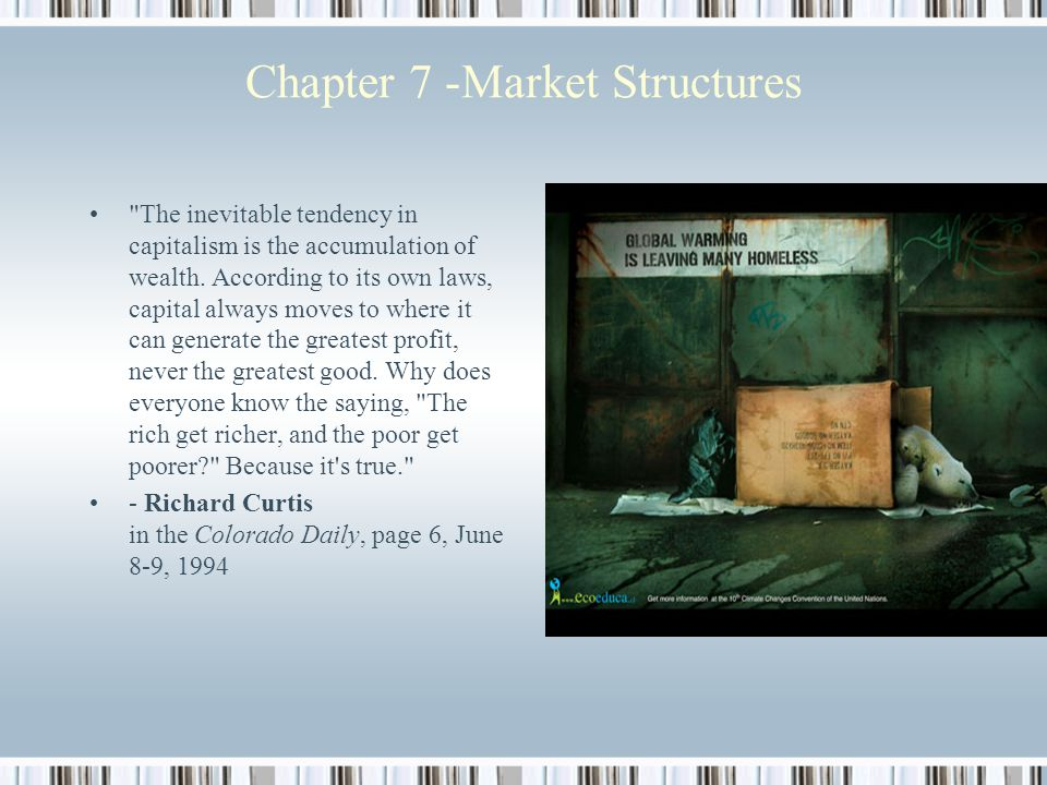 Chapter 7 -Market Structures