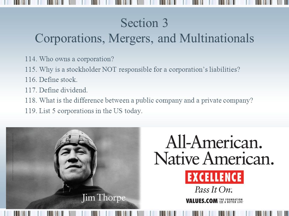 Section 3 Corporations, Mergers, and Multinationals