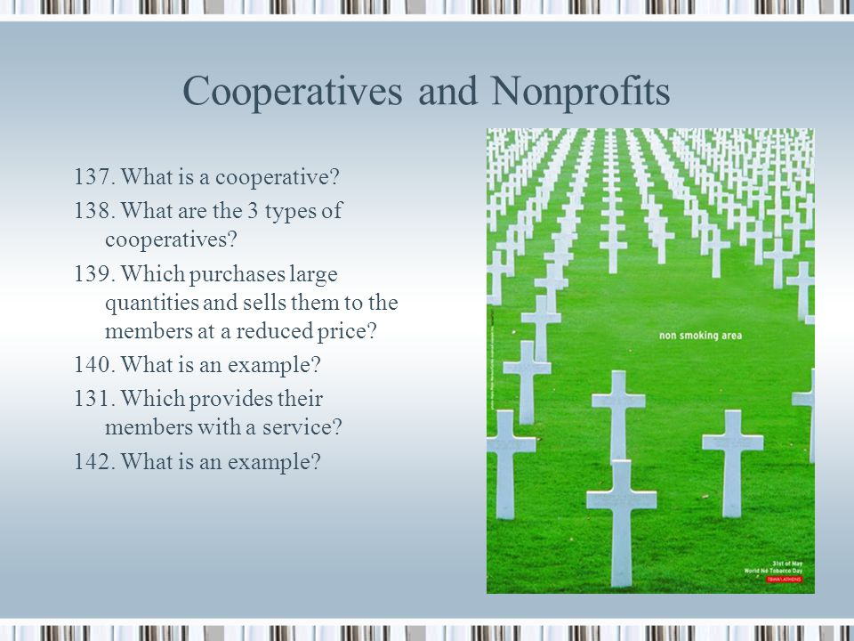 Cooperatives and Nonprofits
