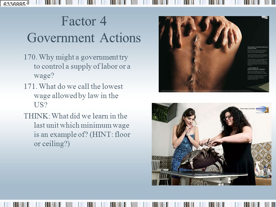 Factor 4 Government Actions
