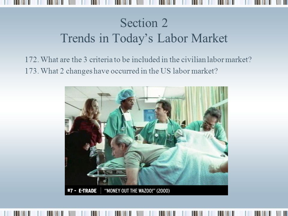 Section 2 Trends in Today's Labor Market