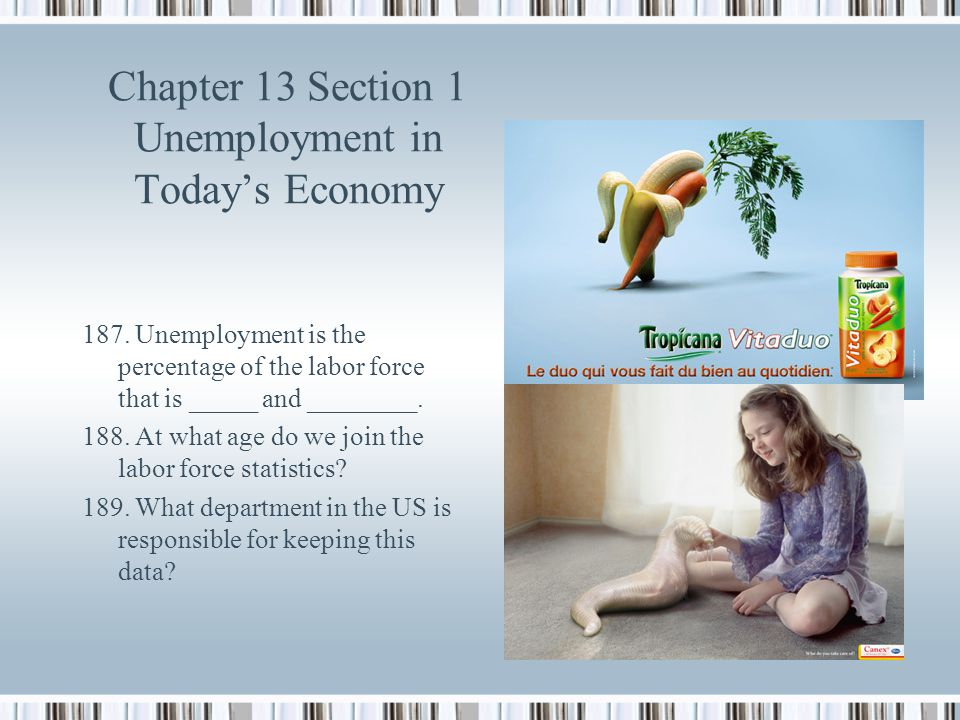 Chapter 13 Section 1 Unemployment in Today's Economy
