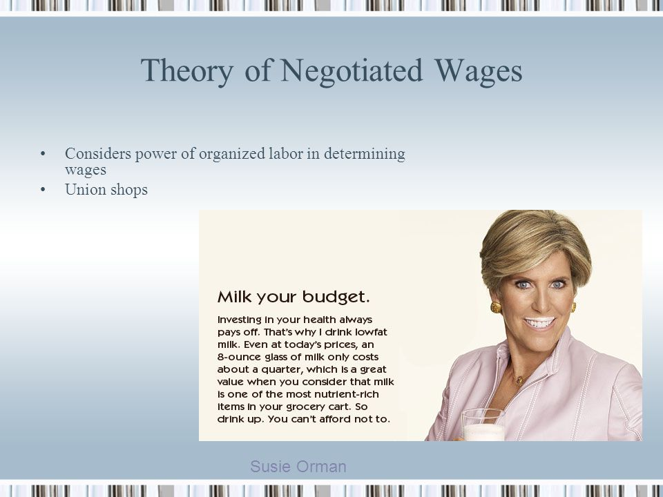 Theory of Negotiated Wages