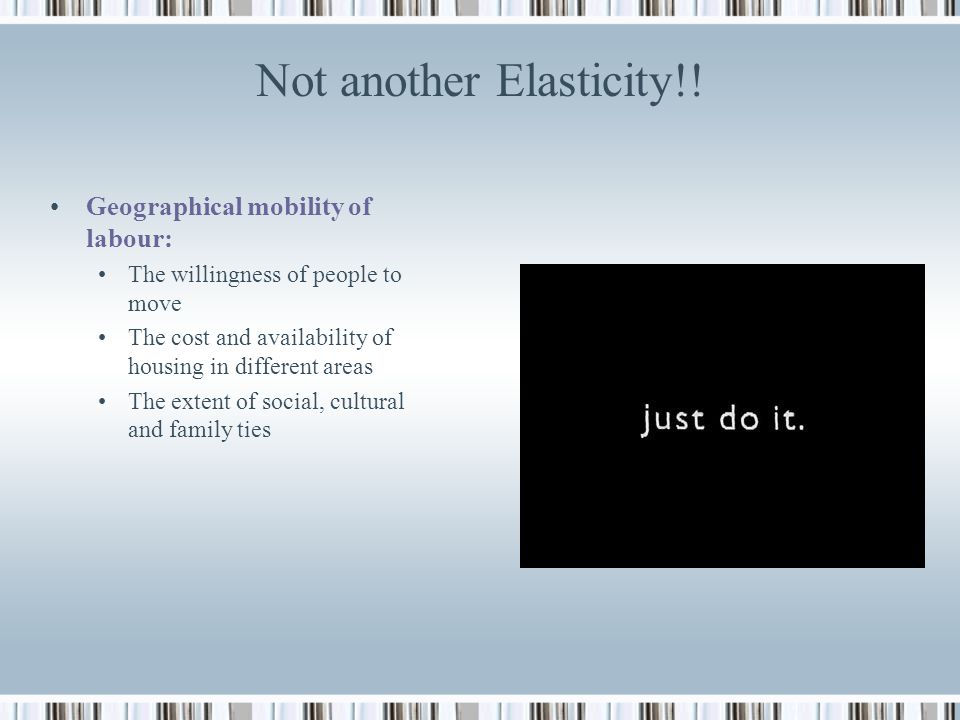 Not another Elasticity!!