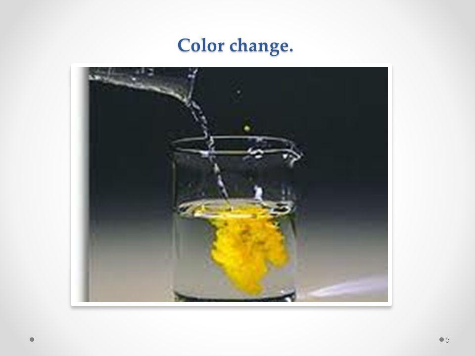 Color change.