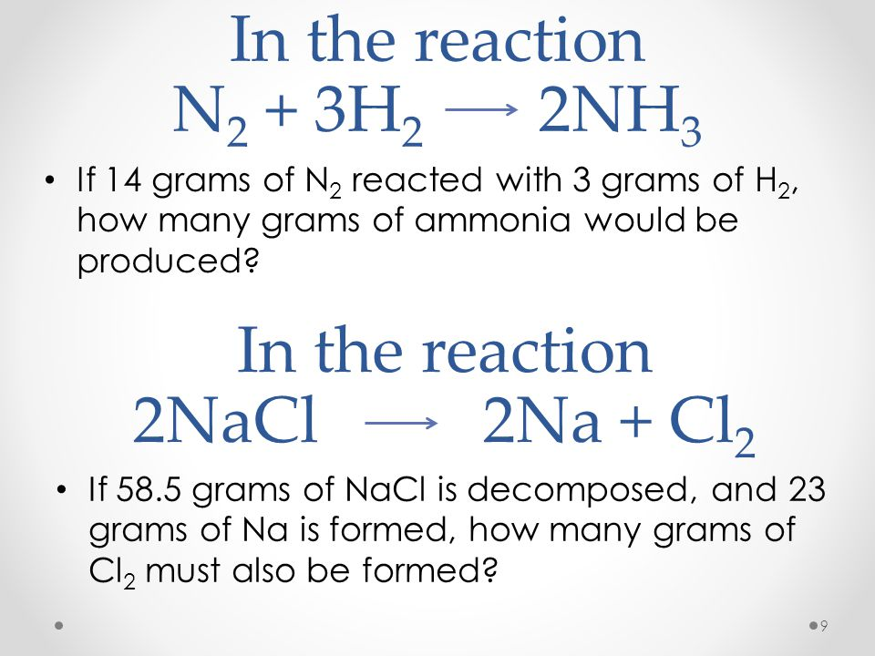 In the reaction 2NaCl 2Na + Cl2