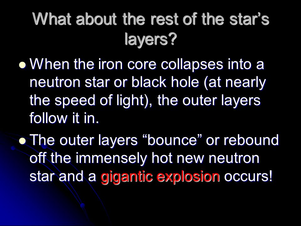 What about the rest of the star's layers