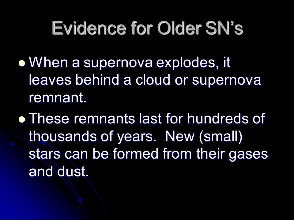 Evidence for Older SN's