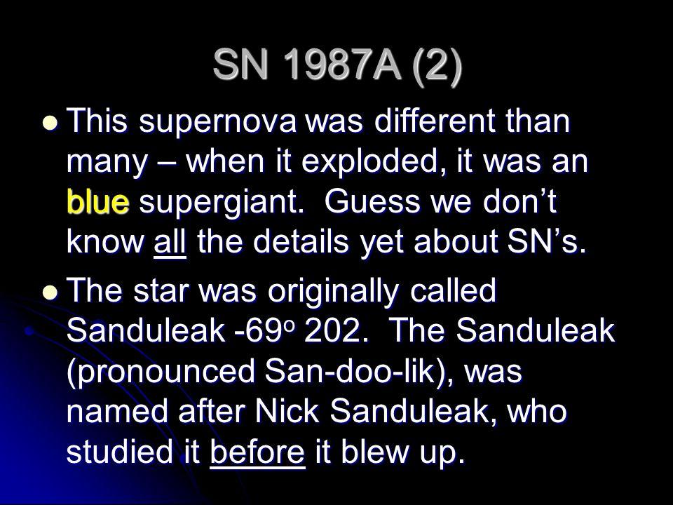 SN 1987A (2)