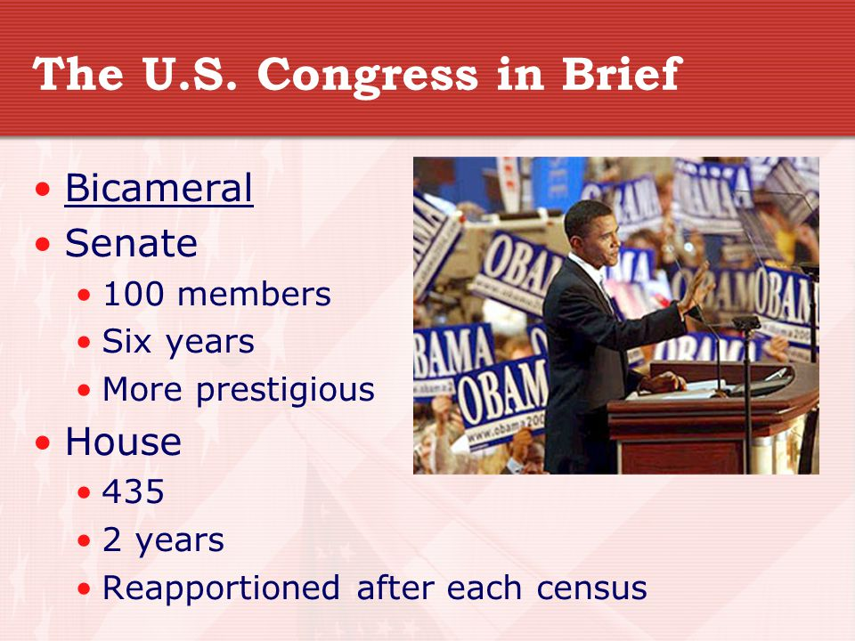 The U.S. Congress in Brief
