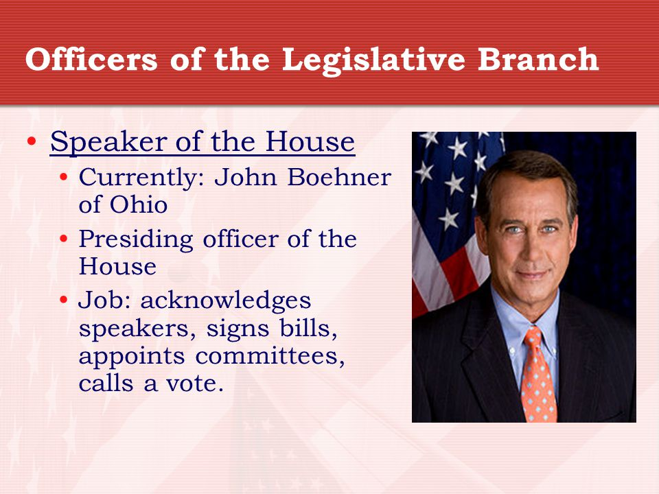 Officers of the Legislative Branch