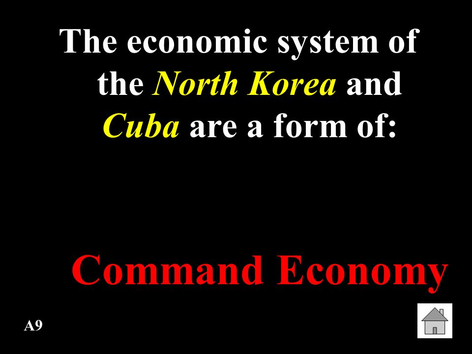 The economic system of the North Korea and Cuba are a form of: