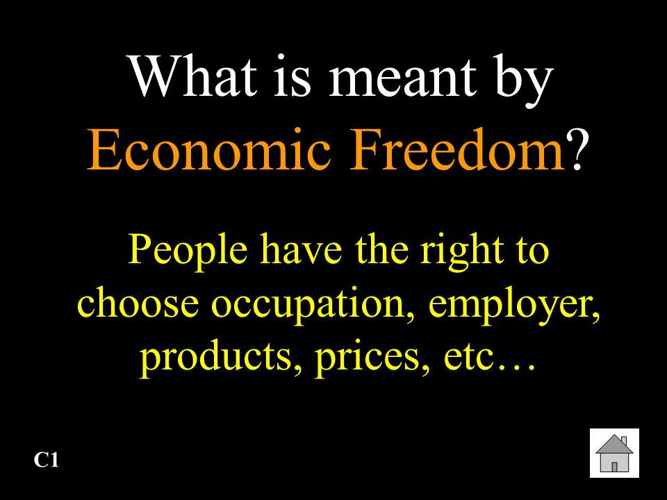 What is meant by Economic Freedom