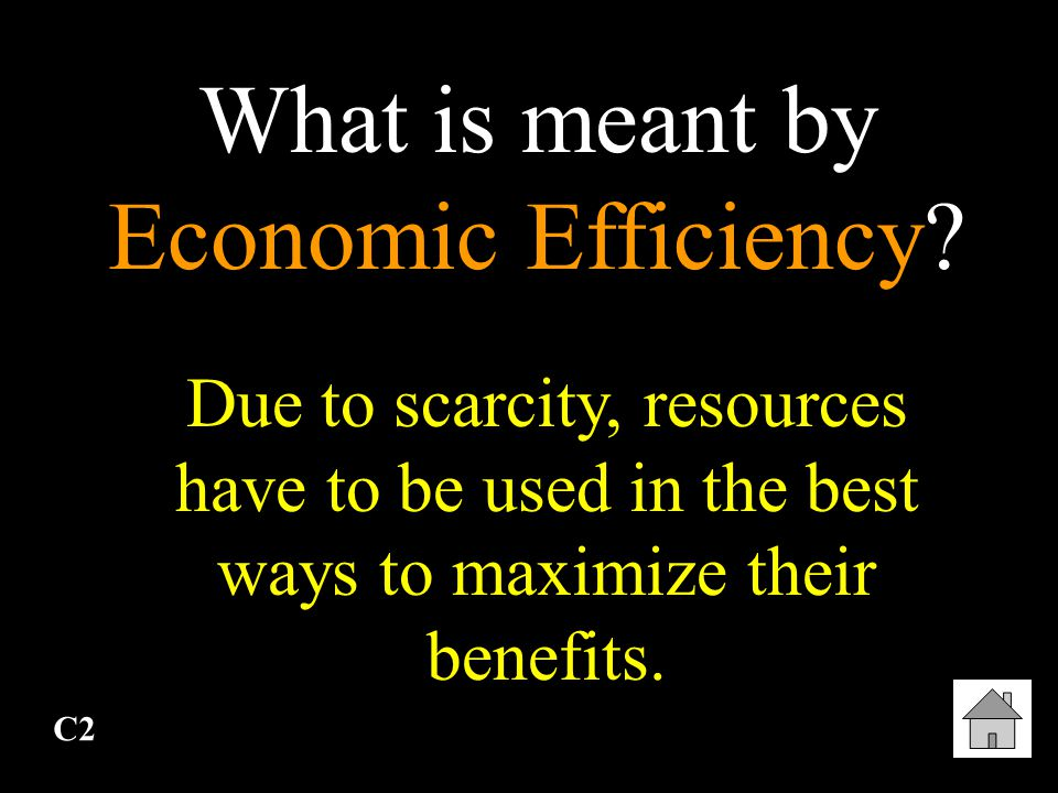 What is meant by Economic Efficiency