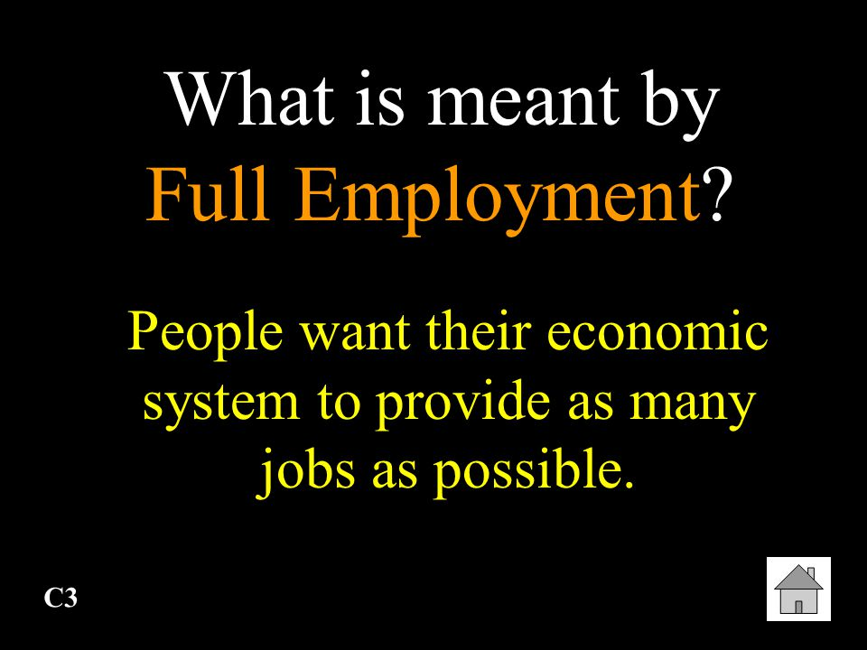 What is meant by Full Employment