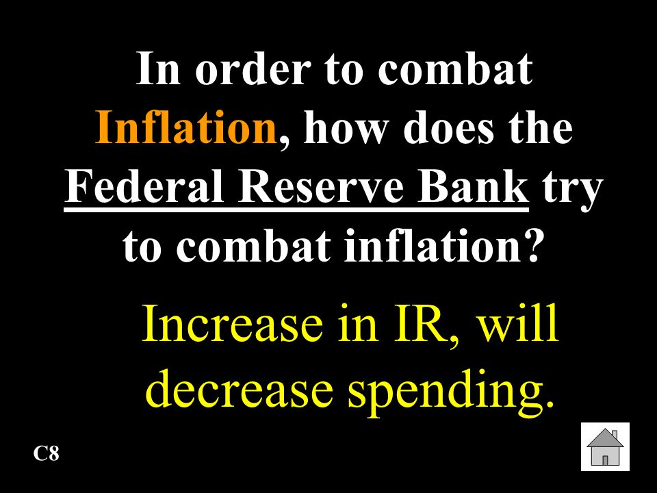 Increase in IR, will decrease spending.