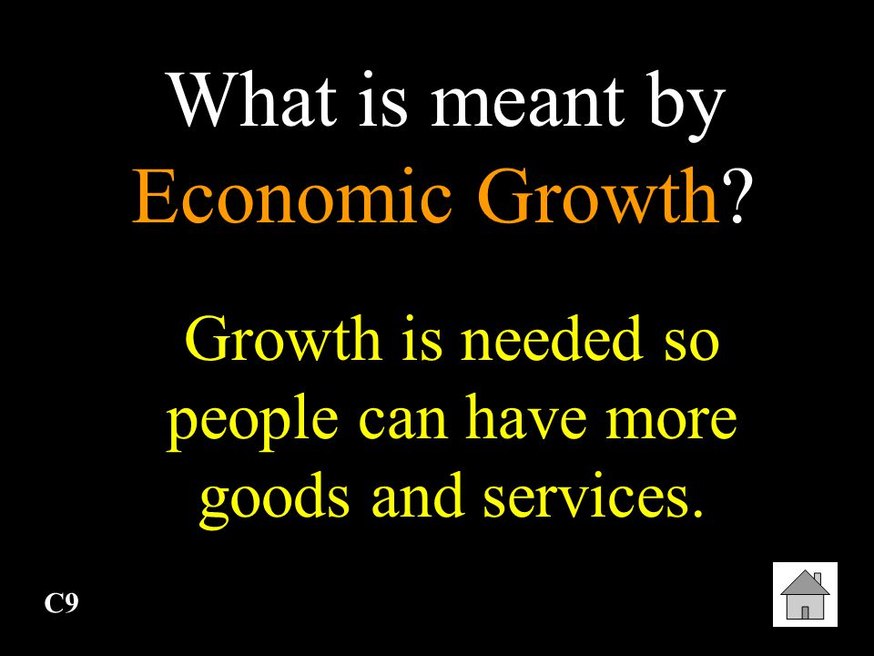 What is meant by Economic Growth