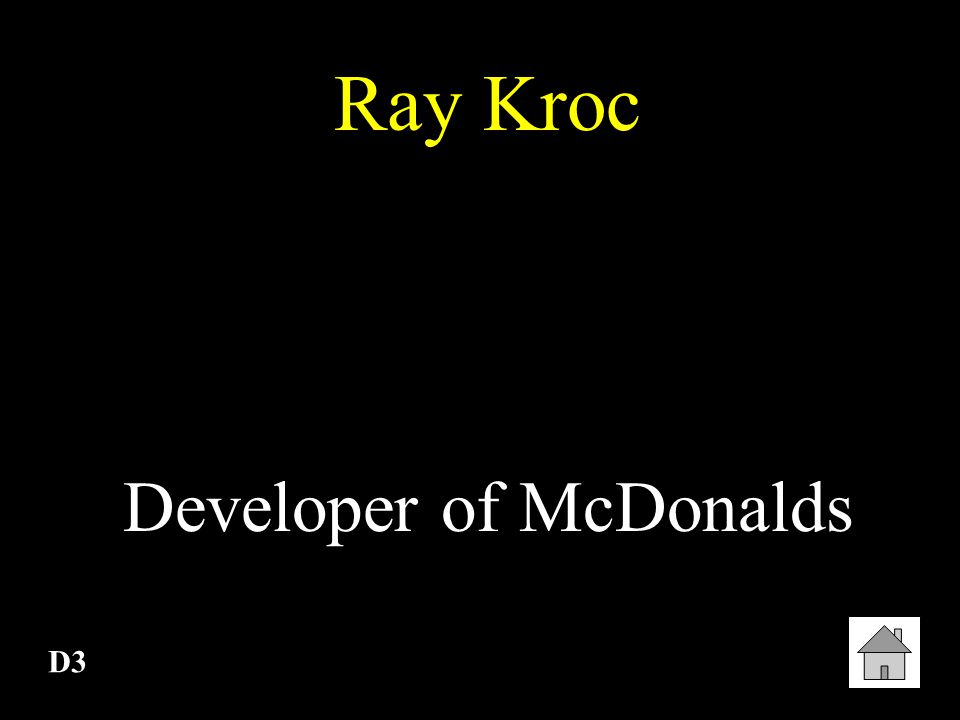 Developer of McDonalds