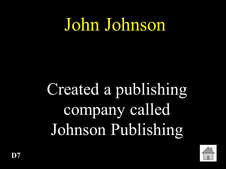 Created a publishing company called Johnson Publishing